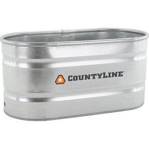 Countyline Oval Galvanized Stock Tank 2 Ft W X 4 Ft L X 2 Ft H Wt224 At Tractor Supply Co Stock Tank Galvanized Stock Tank Stock Tank Pool