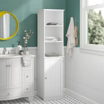 32 X 170cm Free Standing Tall Bathroom Cabinet In 2020 Bathroom Standing Cabinet Free Standing Cabinets Bathroom Tall Cabinet