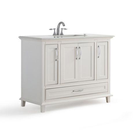 Wyndenhall Newton 42 Bath Vanity With Bombay White Quartz Marble Top Soft White Vanity Bath Vanities 42 Inch Vanity