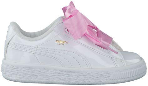 932f9ed61a3 Zwarte PUMA Sneakers BASKET HEART PATENT KIDS | Schoenen Yuna