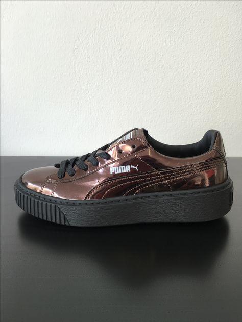 puma platform metallic bronze