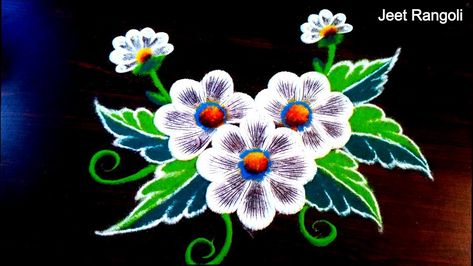 Very easy and Simple Rangoli design. Daily use rangoli design for students.
