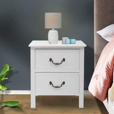 August Grove Tieman 2 Drawer Nightstand Wayfair Drawer Nightstand 2 Drawer Nightstand Bedroom Storage