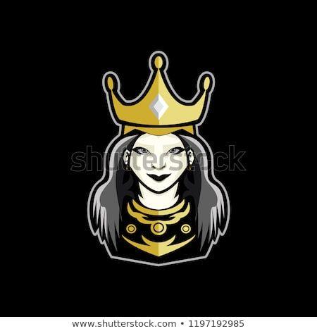 Queen Logo Mascot For Gaming Sport Esport Etc Mascot Logos Royalty Free