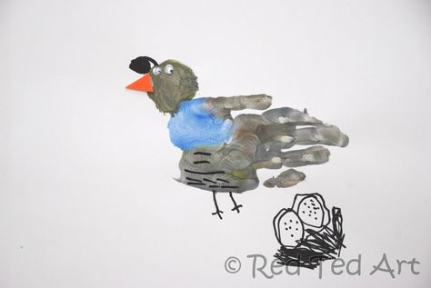 Red Ted Art's Blog » Blog Archive Handprint Alphabet - Q is for... Quail » Red Ted Art's Blog