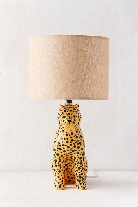 Urban Outfitters Leopard Table Lamp Home Lighting Animal Animal Lamp, Stained Glass Table Lamps, Estilo Tropical, Bedroom Lamps, Home And Deco, Home Living, Living Room, My New Room, Wabi Sabi