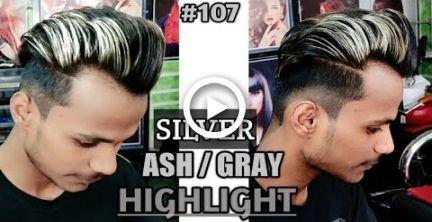 Silver Ash Platinum Blonde Highlights On Black Hair For Men Black To Silver Fox Hair Silver Fox Hair Black Hair With Highlights Mens Hairstyles