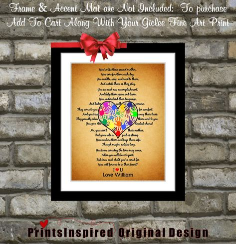 Personalized Daycare Provider Gifts For Teacher Appreciation Daycare Preschool Teacher Gift For Childcare Print Wall Art Poster
