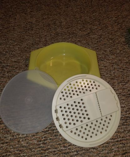 Vintage Tupperware Yellow Cheese Grater Shredder Bowl Amp Seal 786 Vintage Tupperware Tupperware Cheese Grater