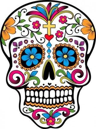 Sugar Skull Vector Vector Misc Free Vector For Free Download Sugar Skull Tattoos Skull Skull Art