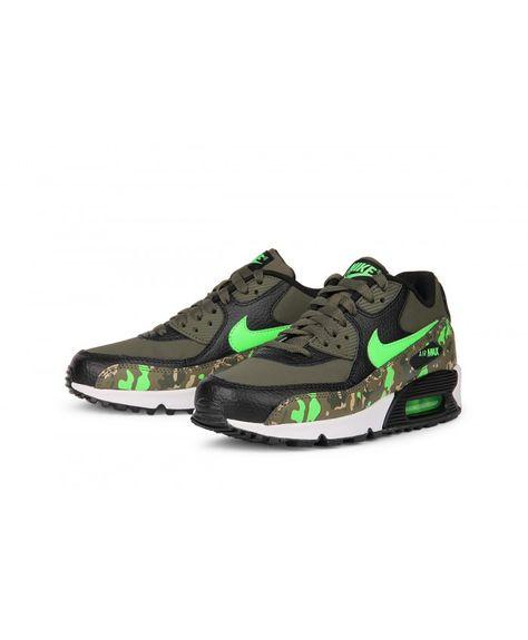 Nike Air Max 90 Premium Black Cargo Khaki Green Olive Cheap