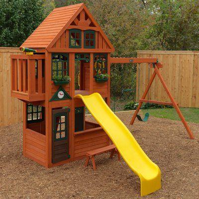 KidKraft McKinley Cedar Wood Swing Set Playset F24950