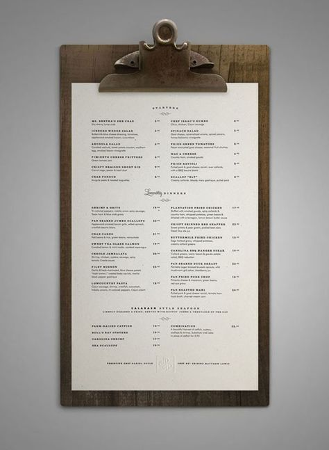 restaurant menu Art of the Menu: 50 Examples of Brilliant Menu Design - Airows