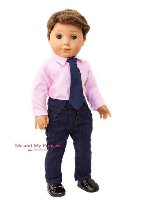 Homemade Doll Clothes-Solid Orange Shirt that fits Ken Doll B5