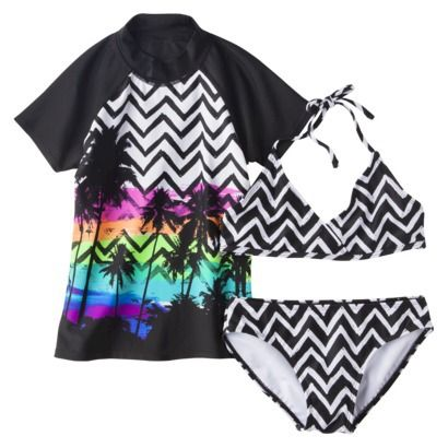 Surf girls will look totally rad in this Bikini and T-shirt set from Target