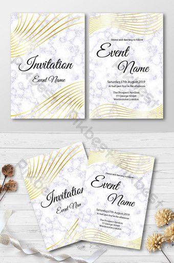 Golden Marble Elegant Business Invitation Ai Free Download Pikbest Business Invitation Invitations Trifold Brochure Design