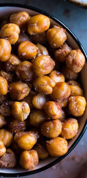 Salt & Vinegar Roasted Chickpeas #snackattack #healthy