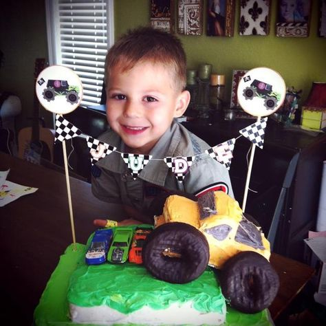 How great is this monster truck cake