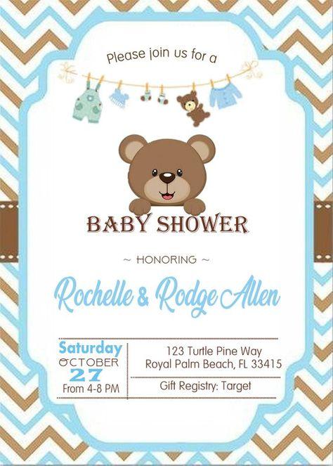 Teddy Bear Baby shower invitation It's a Boy baby shower   Etsy