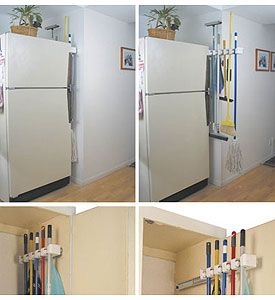Shelf Mount Mop And Broom Holder With Grips Package | Broom Holder, Kitchen  Utilities And Door Shelves