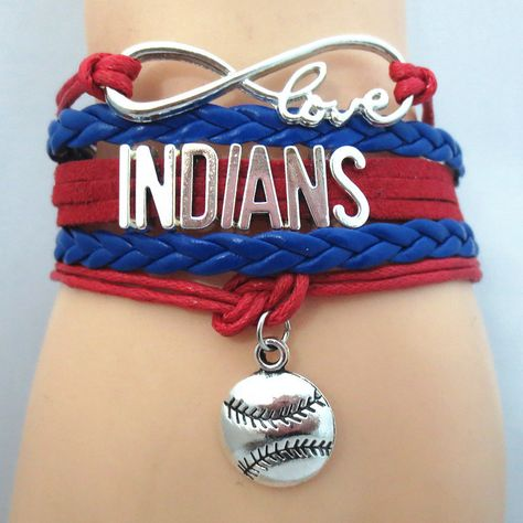 Infinity Love Cleveland Indians Baseball - Show off your teams colors! Cutest Love Cleveland Indians Bracelet on the Planet! Don't miss our Special Sales Event. Many teams available. www.DilyDalee.co