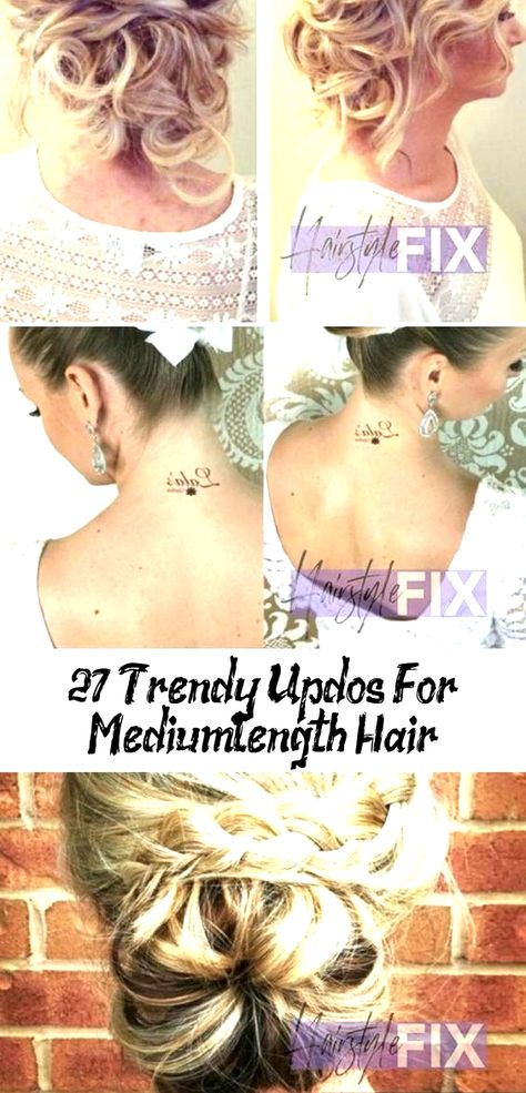 27 Trendy updos for medium-length hair, #length #medium #trendy #updos #hairstylesformediumlengthhairMessy #hairstylesformediumlengthhairBrown #hairstylesformediumlengthhairQuick #hairstylesformediumlengthhairAfricanAmerican #hairstylesformediumlengthhairGirls