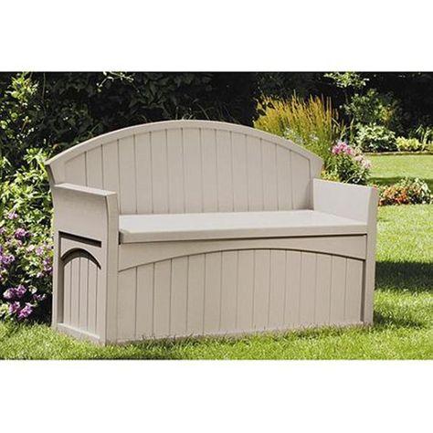 Admirable Resin Deck Box Bench Patio Outdoor Garden Plastic Storage Machost Co Dining Chair Design Ideas Machostcouk