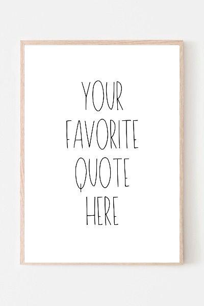 Custom Wall Art Custom Quote Print Personalized Your Text Etsy Custom Quote Print Custom Quotes Custom Wall Art