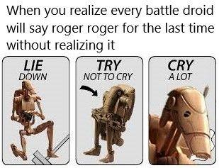 Roger Roger Battle Droid Memes Star Wars Memes Battle Droid Star Wars Movie