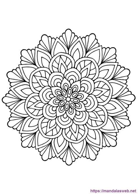 36 Mandalas De Flores Para Colorear E Imprimir Mandalasweb
