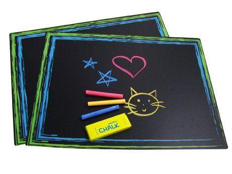 Sassafras / Set of 2 Chalkboard Placemats with Chalk