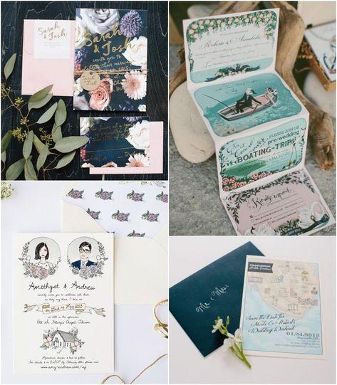 ▷ 1001+ idées pour un faire-part mariage chic et tendance - #▷ #1001 #Chic #et #Faire-part #idées #mariage #pour #Tendance #Un