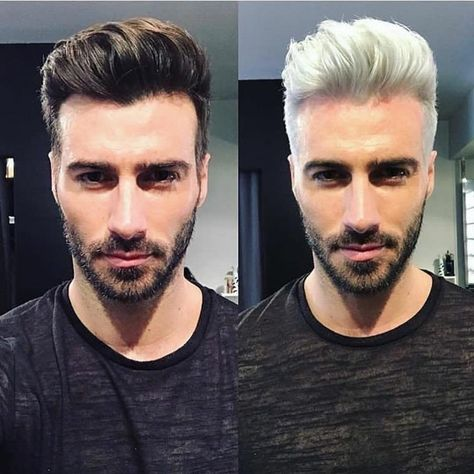 """@menslifehairstyles on Instagram: """"Left or Right ? ✂ Cc @justinclynesofficial My Pages : ➡ @menslifefashion ➡ @menslifehairstyles"""""""