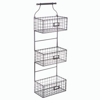3 Tier Metal Wire Wall Basket Rack Wire Wall Basket Baskets On Wall Wire Basket Shelves