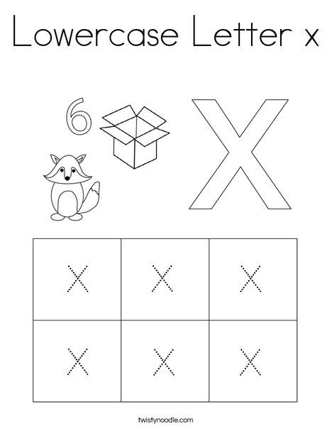 Lowercase Letter X Coloring Page Twisty Noodle Lower Case Letters Lettering Coloring Pages