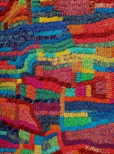 Hooked Rag Rug By Jane Jackson
