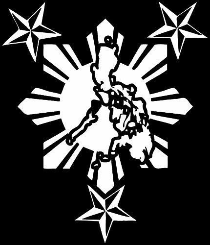 Philippine Island With Sun Star Custom Car Decal Sticker 10 X 12 Car Decals Stickers Custom Car Decals Filipino Art