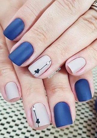 Precious Matte Dark Blue And Pink Nail Polish Dark Pink Nails Wedding Acrylic Nails Nails Design With Rhinestones