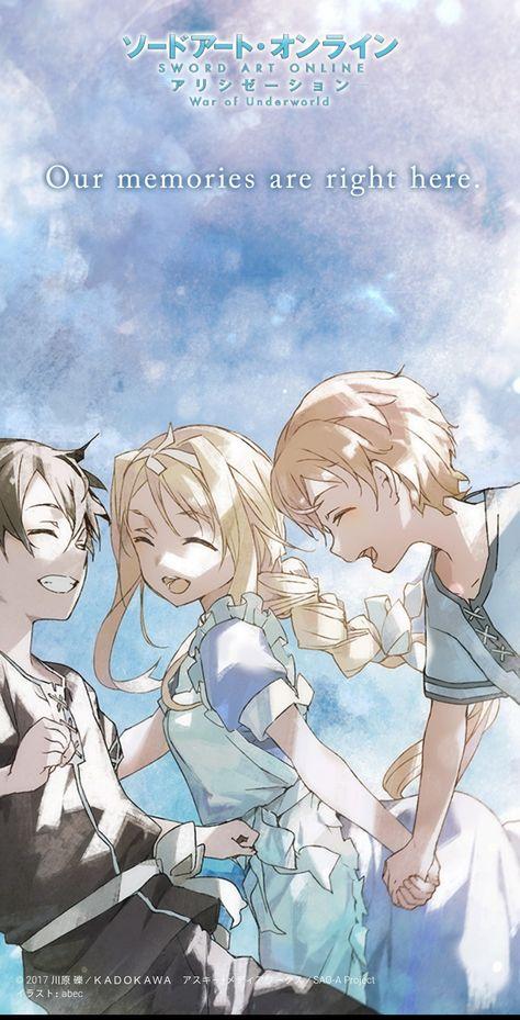 Sword Art Online: Wallpaper  Kirito,Eugeo and Alice