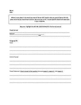 Fill In The Blank Essay Outline Essay Outline Essay Paragraph