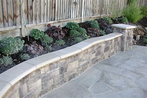 Image Result For Add A Cap To Cement Wall Pavers Backyard Landscaping Ideas Pavers Backyard Retaining Wall Pavers