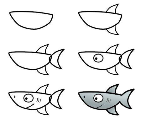 سراج الغامدي On Twitter Art Drawings For Kids Easy Drawings Shark Drawing