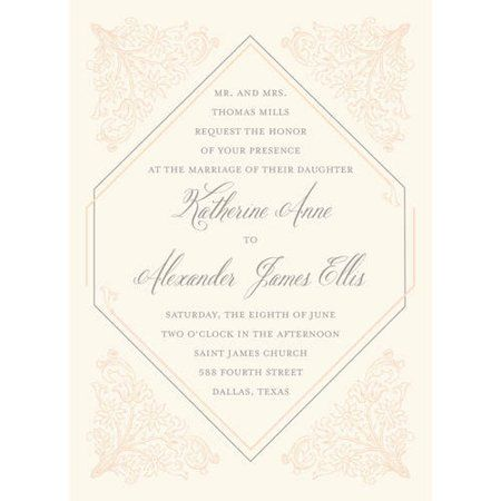 Deco Standard Wedding Invitation Walmart Com Wedding Invitations Deco Wedding Invitations Invitations