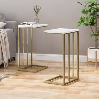 Mercedes Marble End Table In 2020 Marble End Tables End Tables Living Spaces