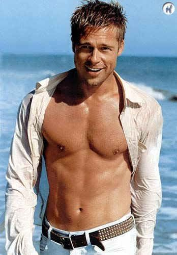 Brad Pitt is too hot. Who doesn't like Brad Pitt, he is one of the hottest guys on this planet.