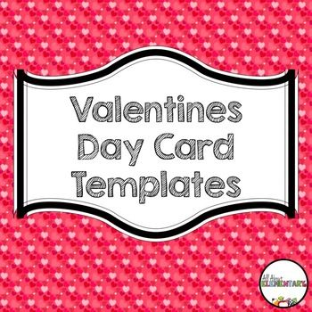 Valentine S Day Card Templates This Freebie Includes 5 Different Valentine Card Template Valentines Day Card Templates Valentine Card Template Card Templates