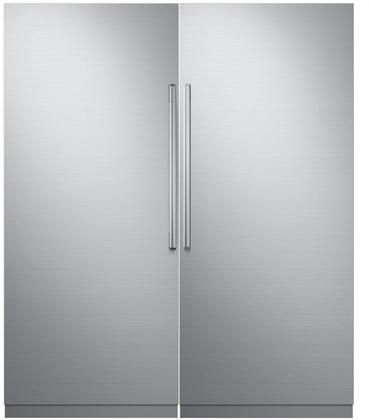 72 Side By Side Column Refrigerator Freezer Set With Drr36980rap 36 Right Hinge Refrigerator In 2020 Tall Cabinet Storage Refrigerator Freezer Panel Doors
