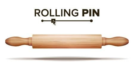 Wooden Rolling Pin Vector Bakery Concept Isolated Illustration Rolling Pin Illustration Rolls