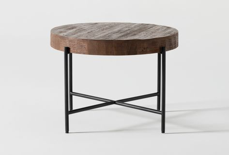 Dunkin 28 Inch Round Coffee Table In 2020 Round Coffee Table