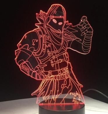 Fortnite 3d Raven Night Lamp Led Night Light Night Light 3d Led Night Light